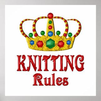編み物の規則 ポスター