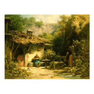 編み物の隠者- Spitzweg ポストカード