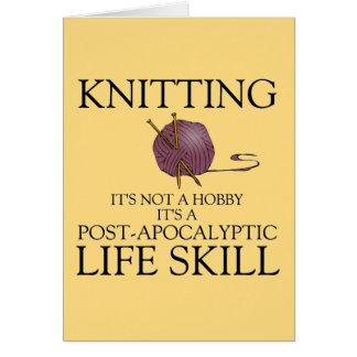 編み物はポストの終末論的な生命技術カードです カード