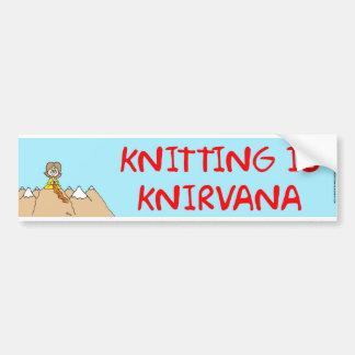 編み物はknirvanaです バンパーステッカー