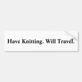 編み物を持って下さい。 走行します。` バンパーステッカー