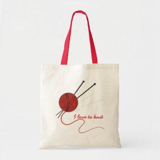 編み物ヤーンおよび針/バッグ トートバッグ