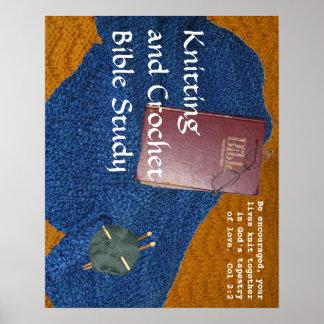 編むおよびかぎ針編みの聖書の勉強ポスター ポスター