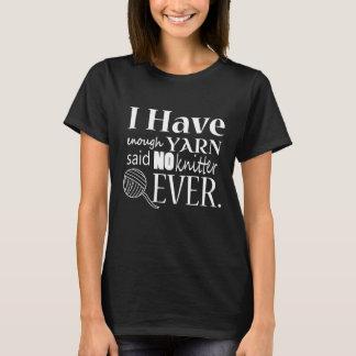 編むこと • ない十分なヤーンの技術{暗い} Tシャツ