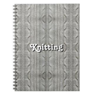 編むこと(カスタマイズ可能な) ノートブック