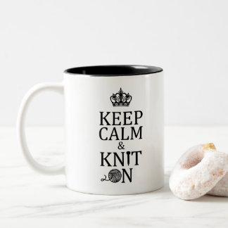 編むこと • 穏やかなニットを保って下さい • 技術 ツートーンマグカップ
