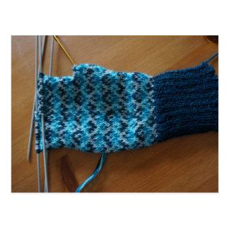 編む公平な島の手袋 ポストカード