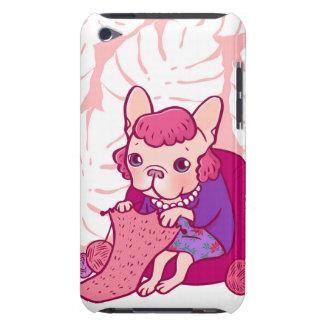 編むFrenchieおよび彼女のスカーフ Case-Mate iPod Touch ケース