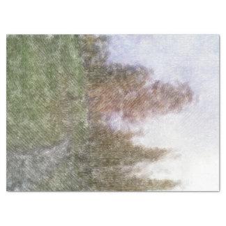 編集された森林写真 薄葉紙