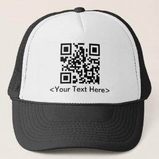 編集可能文字が付いているQRコード野球帽 キャップ