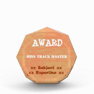 編集可能文字のテンプレート: 賞の達成の勝者 表彰盾