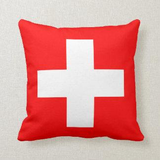 編集可能背景、スイス連邦共和国の旗 クッション