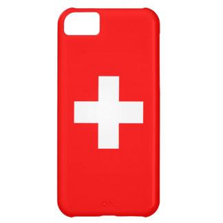 編集可能背景、スイス連邦共和国の旗 iPhone5Cケース