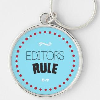 編集者の規則Keychain -青 キーホルダー