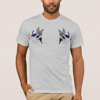 編集2つのヒョウの編集をを編集しているヒョウ Tシャツ
