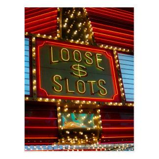 緩いスロットはカジノ、ラスベガス、ネバダで署名します ポストカード