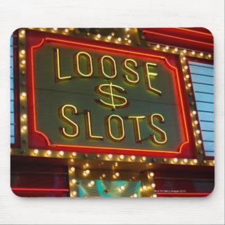 緩いスロットはカジノ、ラスベガス、ネバダで署名します マウスパッド