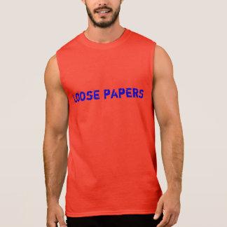 緩い紙 袖なしシャツ