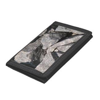 緩く荒い花こう岩の石の財布