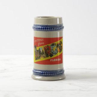 緩やかにフロリダFLの古いヴィンテージ旅行記念品 ビールジョッキ