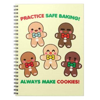 練習の安全なベーキング! ノートブック
