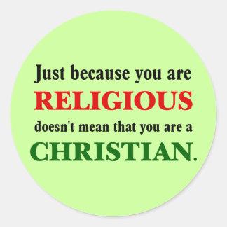 練習の宗教はキリスト教を練習していません ラウンドシール