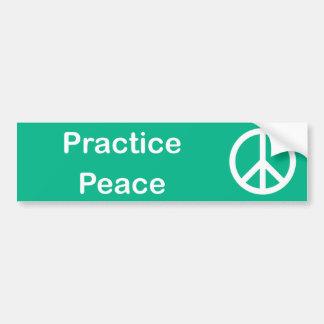 練習の平和バンパーステッカー バンパーステッカー