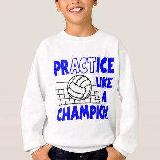 練習は青いチャンピオンを好みます スウェットシャツ