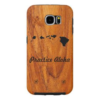 練習アロハKoa木製のSamsungは包装します Samsung Galaxy S6 ケース