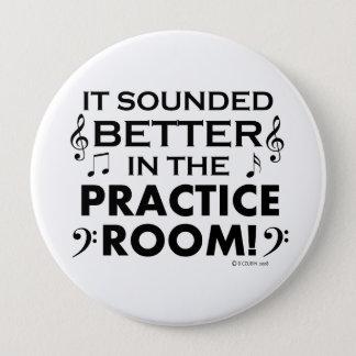 練習部屋でよくして下さい 10.2CM 丸型バッジ