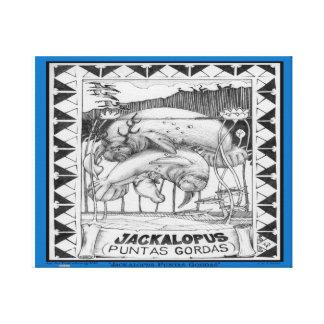 縁どられるJACKALOPEフロリダ- キャンバスプリント