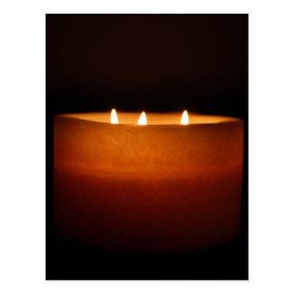 縁膜-蝋燭 葉書き