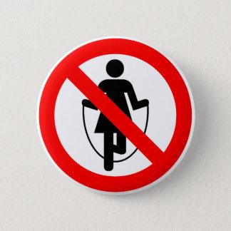 縄跳びの禁止されたハイウェーの印 5.7CM 丸型バッジ