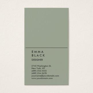 縦のシックな灰色のスタイリッシュな専門デザイナー 名刺