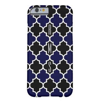 縦の濃紺および黒のモノグラムiPhone6の場合 Barely There iPhone 6 ケース
