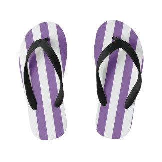 縦の紫色のストライプ キッズビーチサンダル
