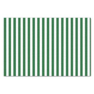 縦の緑および白のストライプ 薄葉紙