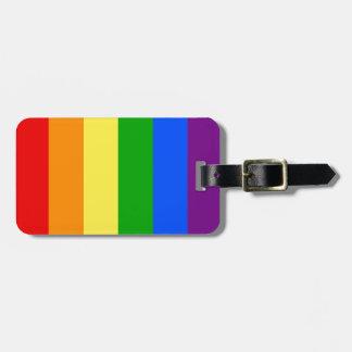 """""""縦の虹縞で飾ります""""は ラゲッジタグ"""