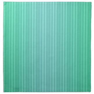 縦ストライプのアクアマリンの青緑のティール(緑がかった色) ナプキンクロス