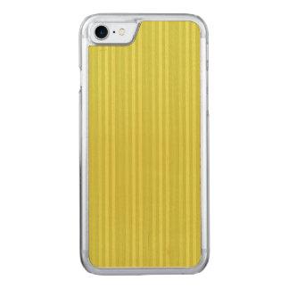 縦ストライプの淡黄緑の黄色緑 CARVED iPhone 8/7 ケース