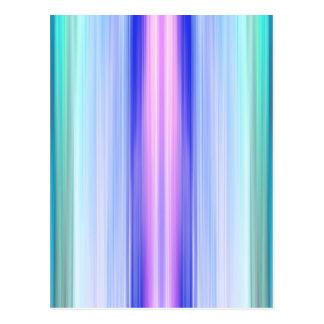 縦色のストライプ ポストカード