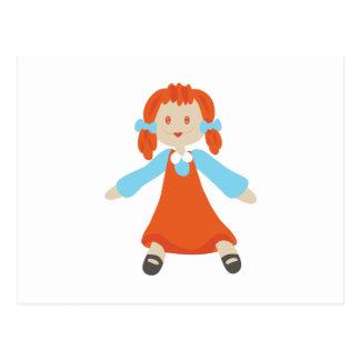 縫いぐるみ人形 ポストカード