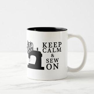 縫うこと • 縫うために平静を保って下さい • 技術 ツートーンマグカップ
