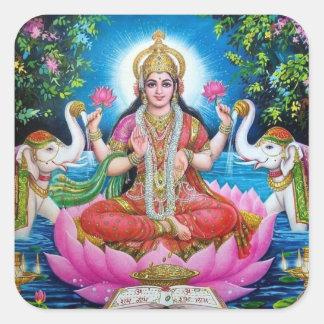 、繁栄および富Lakshmiの愛の女神 スクエアシール