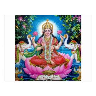 、繁栄および富Lakshmiの愛の女神 ポストカード