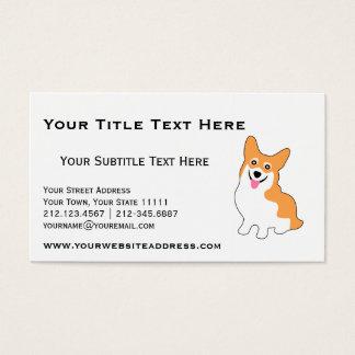 繁殖動物、犬の調教師、ドッグウォーカーのためのかわいいコーギー 名刺