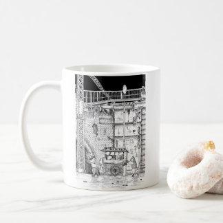 繁華街の景色 コーヒーマグカップ