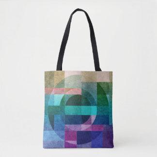 織られる幾何学的で抽象的で多彩な円 トートバッグ