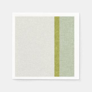 織られる薄緑のオリーブ色の抽象芸術は縞で飾ります スタンダードカクテルナプキン