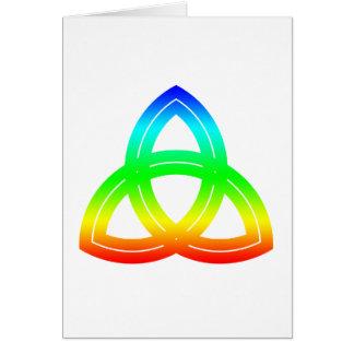 織り交ぜられた二重Triquetra カード
